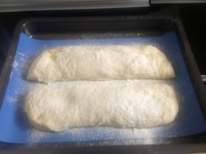 Ciabatta Loaves before baking