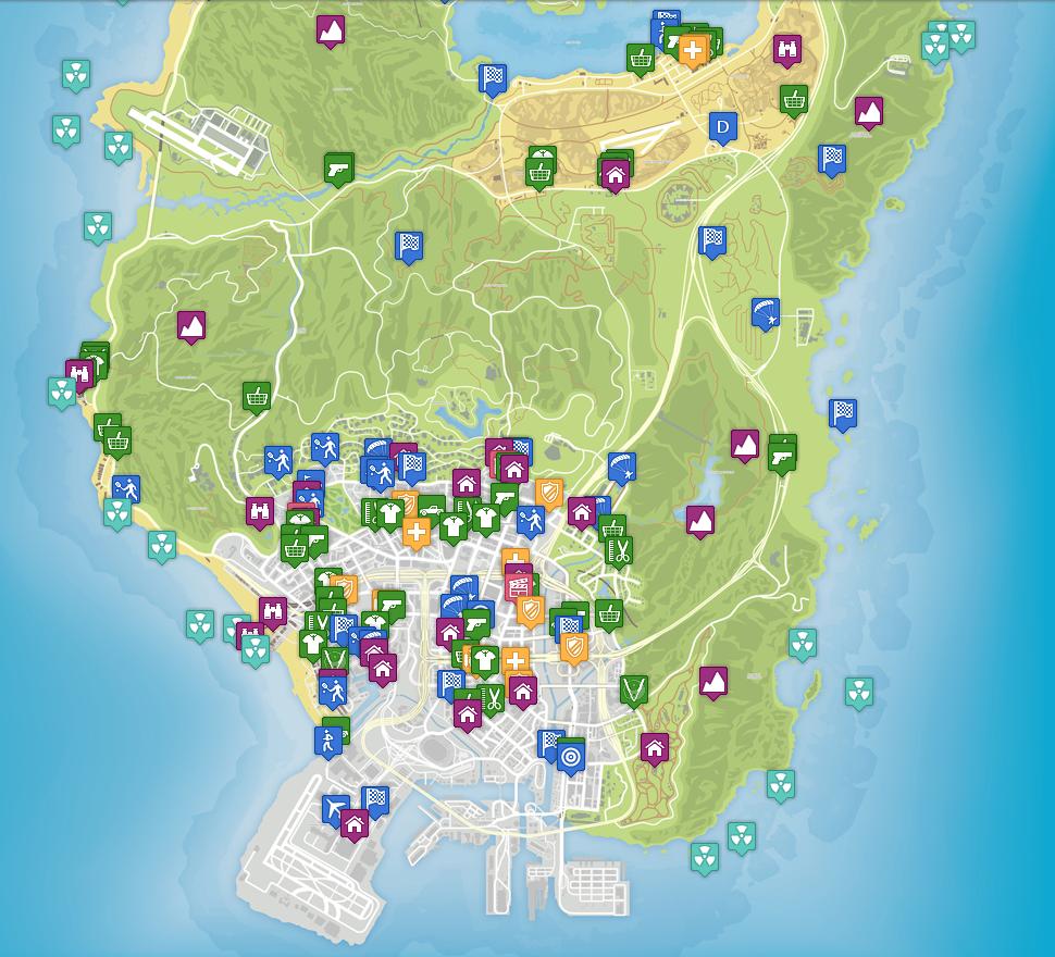 los santos gta 5 map