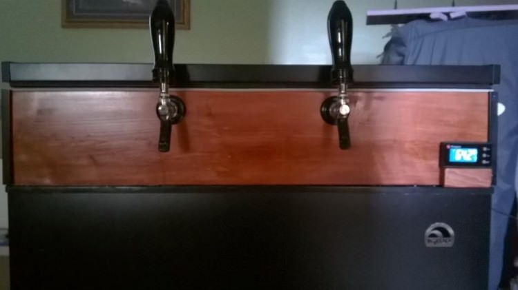 Installing Beer Taps into a Chest Freezer.