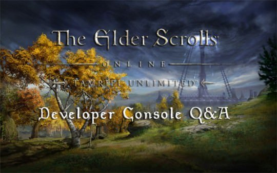 ESO: Zenimax Answers Console Questions
