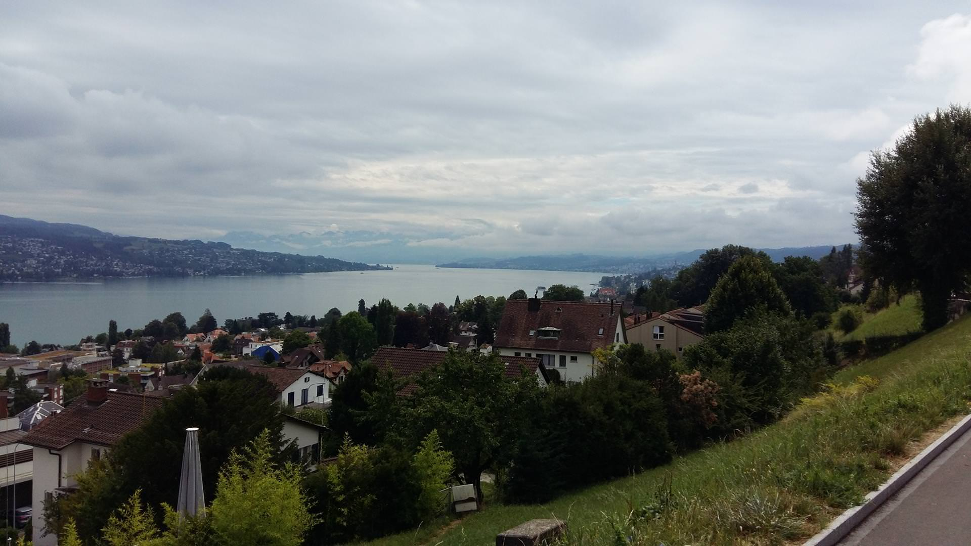The view from Kilchberg, over looking Lake Zurich.