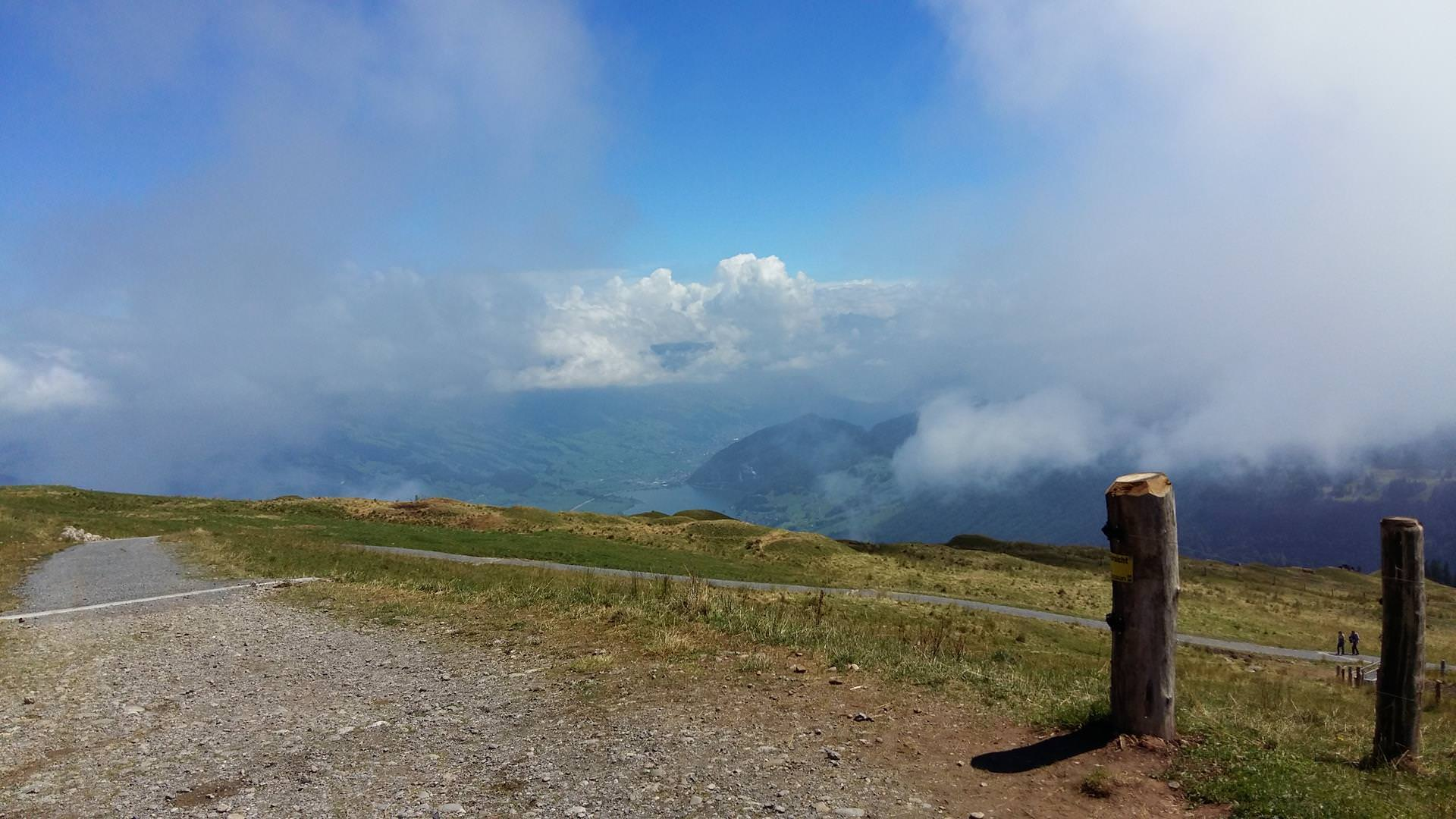 The view from the top of Mount Rigi, also known as Queen of the Mountains.