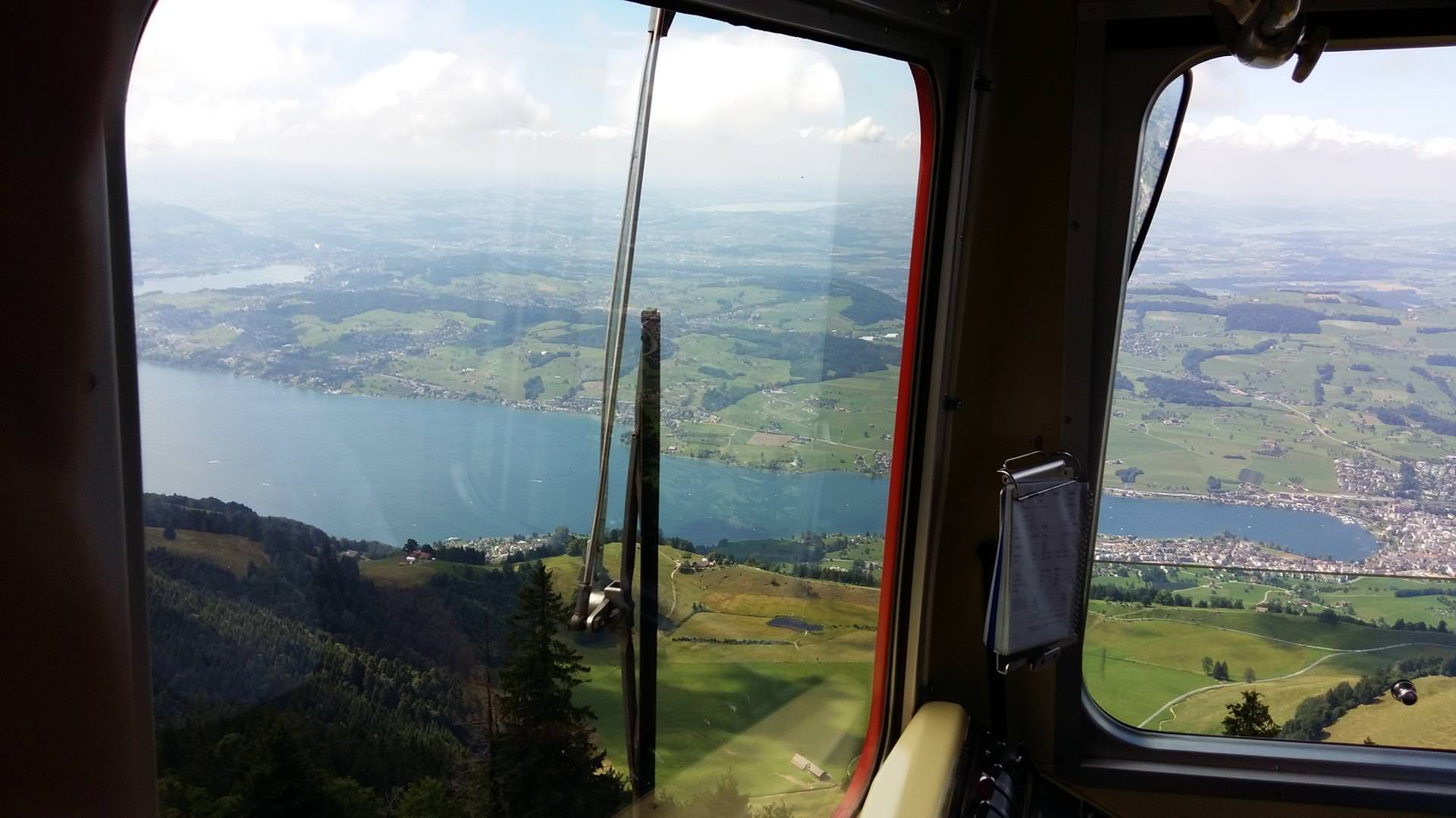 Starting our decent down to Vitznau, the view here was probably the best in Switzerland. You could see for miles in just about every direction.