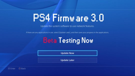 PS4 Firmware 3.0 in Beta testing (Rumor)