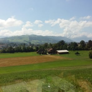 Farmland on the way to Goldau