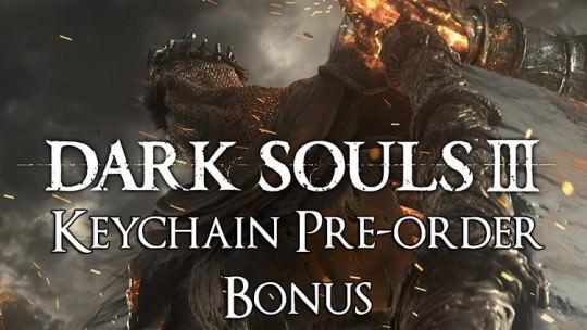 Dark Souls 3 Keychain Pre-Order Bonus