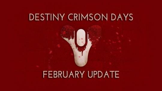 Destiny Crimson Days Festival and February Update