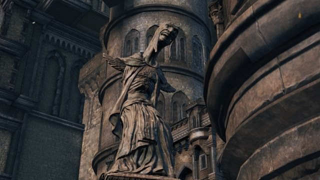 Ringed City Statue Serpent
