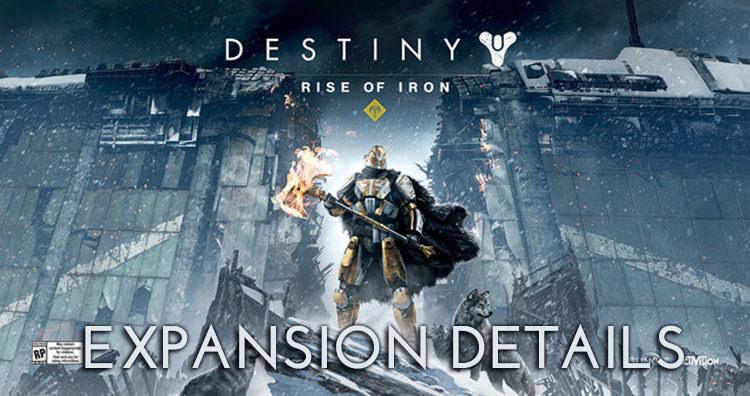 Destiny New Expansion: Rise of Iron Details