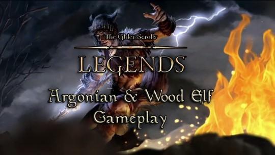 The Elder Scrolls Legends Argonian & Wood Elf Gameplay