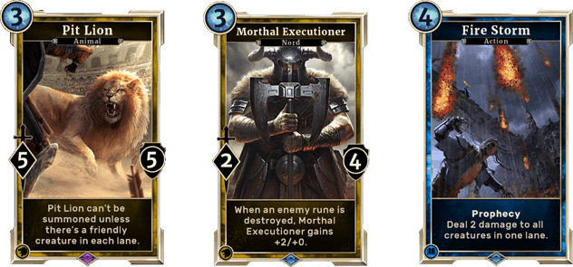 Possible alternative cards...