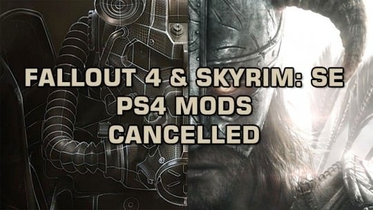 Fallout 4 and Skyrim: Special Edition Will Not Receive Mods On PS4