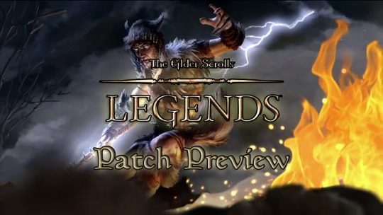 The Elder Scrolls Legends Previews New Patch