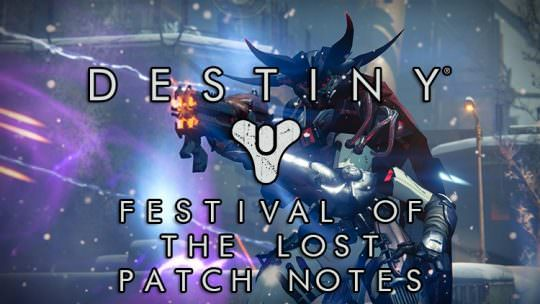 Destiny's Festival of the Lost Begins Today, New Patch Notes Detailed