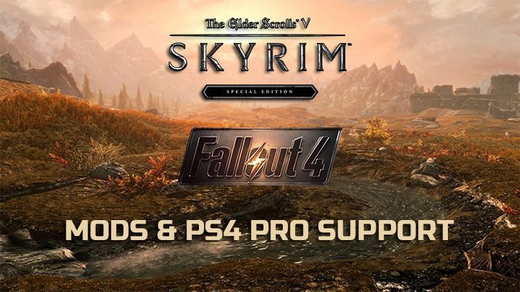 Mods and 4K Support Coming to Skyrim & Fallout 4 On PS4