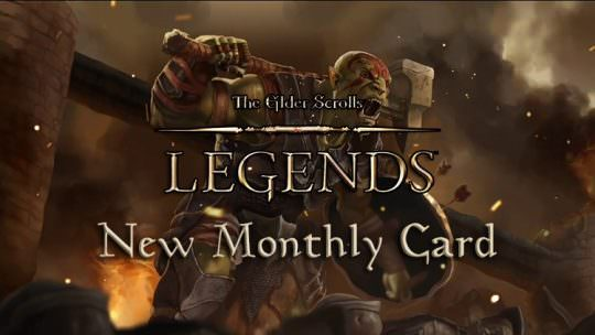 The Elder Scrolls Legends Reveals New Monthly Reward Card