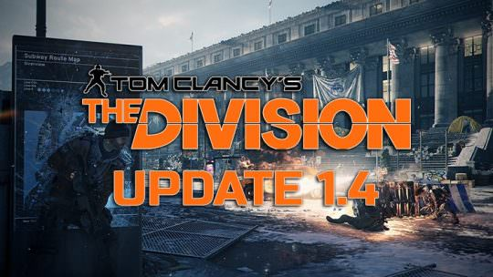 The Division Update 1.4 Releases October 25th