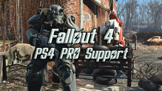 Fallout 4 PS4 Pro Support Coming Next Week, High Res Texture Pack Coming to PC