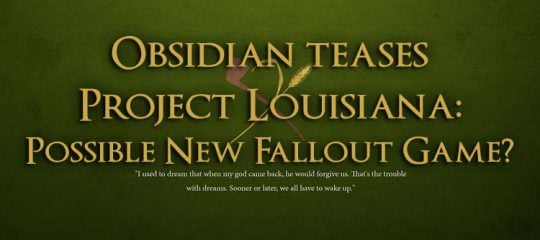 Obsidian Entertainment Teases Project Louisiana: Possible New Fallout Game?