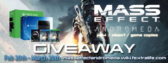 PS4, XBOX One & Mass Effect Andromeda Giveaway
