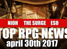 Top RPG News of the Week on Nioh DLC, The Surge Hands On, ESO's Morrowind & More