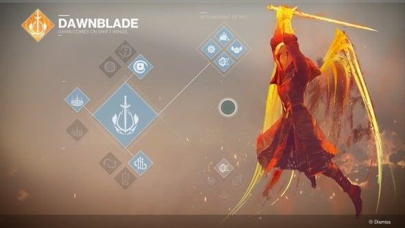 Destiny 2 Warlock Class Dawnblade