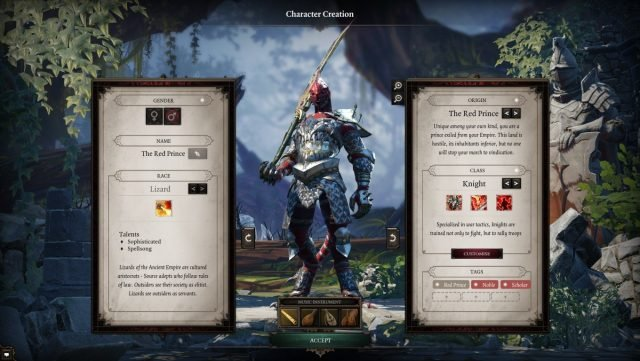 Character Creation Divinity: Original Sin 2