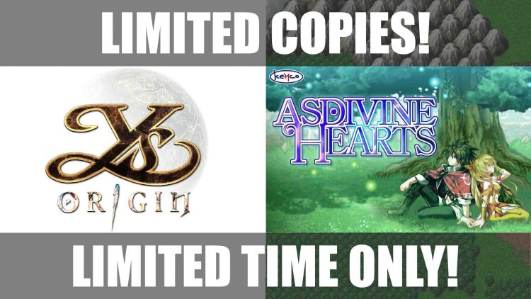 PSA: Limited Run Games Offering Ys Origin & Asdivine Hearts Starting Tomorrow, Aug 25!
