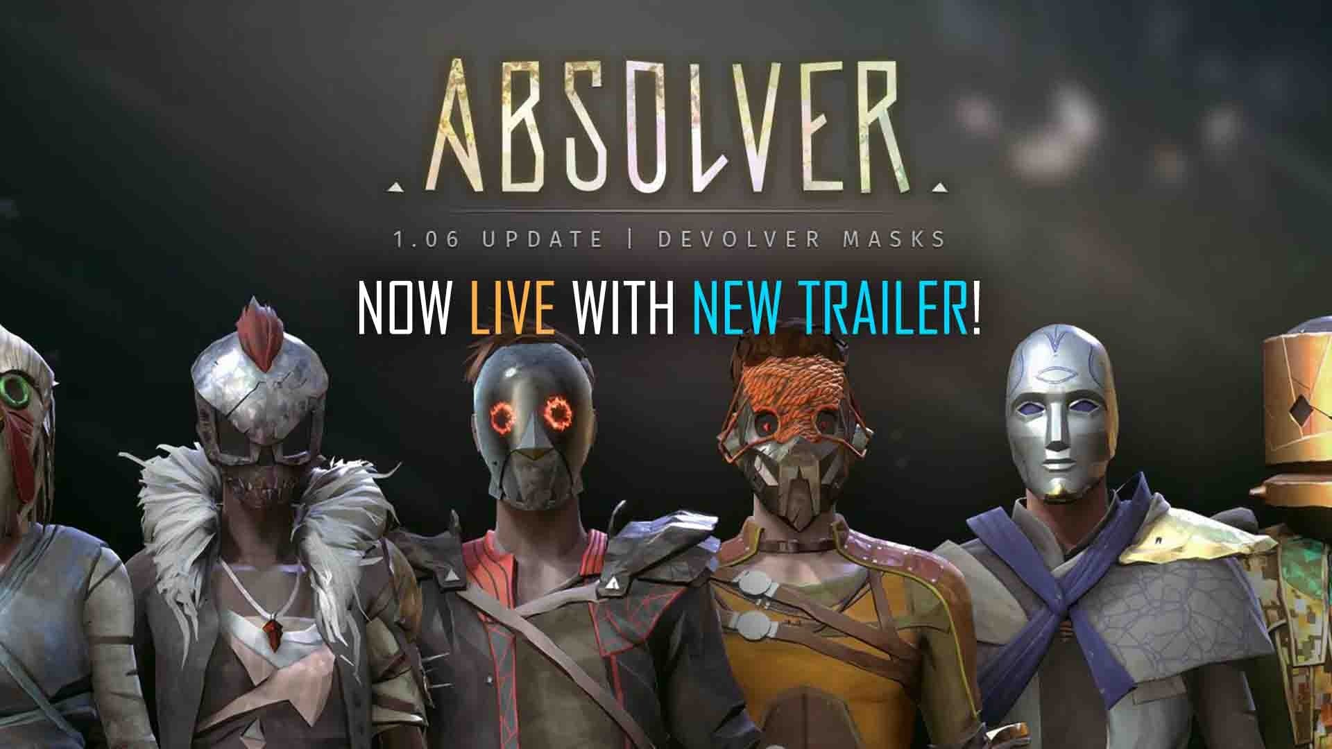 absolver-update-patch-106-devolver-masks-trailer-sloclap-online-martial-arts-rpg