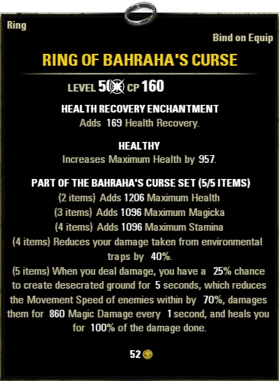 ESO Sets Build Guide: Bahraha's Curse - Life Leecher | Fextralife