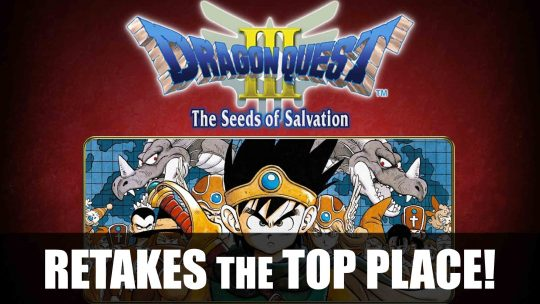 Dragon Quest III Tops Sales Chart & Undertale Still Strong!