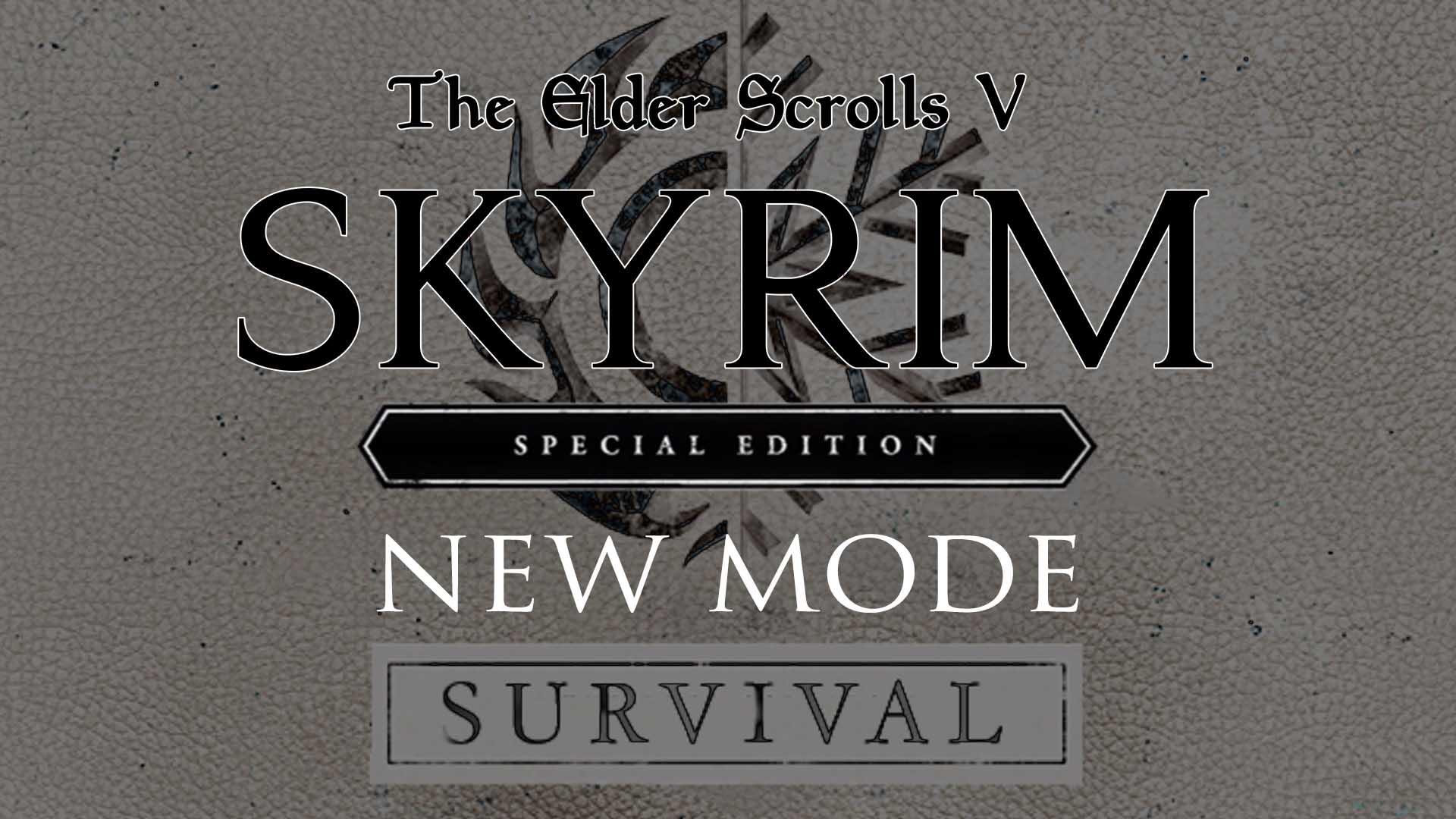 how to get skyrim survival mode