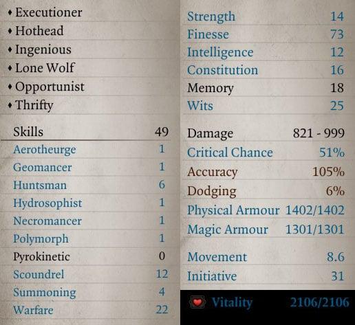 Divinity Original Sin 2 Builds – Assassin | Fextralife