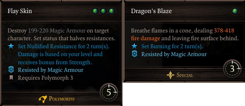 flay skin and dragons blaze
