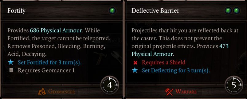 fortify and deflective barrier