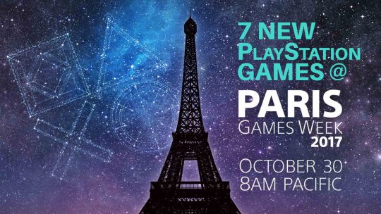 Sony To Announce 7 New Games At Paris Games Week 2017!