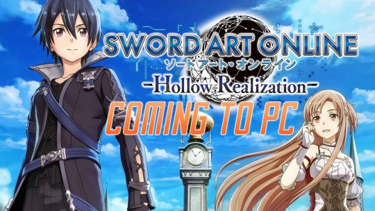 Sword Art Online: Hollow Realization Coming To PC!