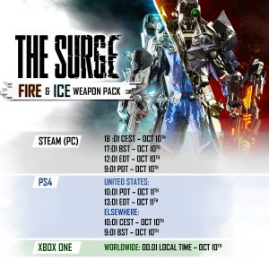 the-surge-fire-ice-weapon-pack-free-dlc-release-schedule