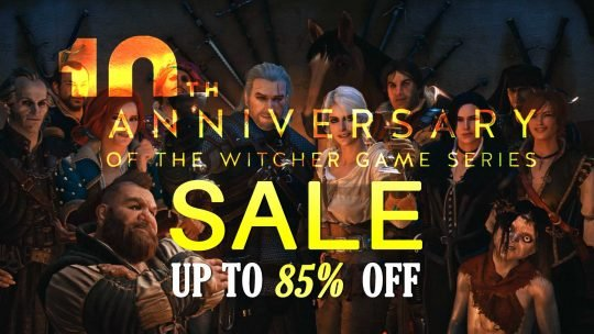 The Witcher 10th Anniversary SALE Up to 85% Off!