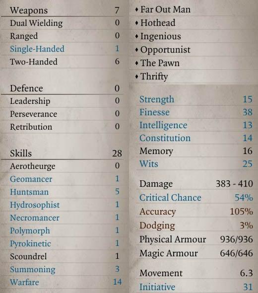 Divinity Original Sin 2 Builds – Warden | Fextralife