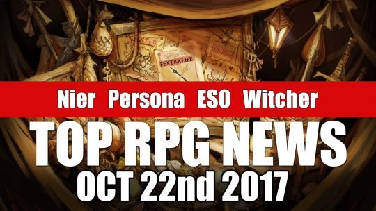 RPG News Weekly Round Up – October 22nd, 2017