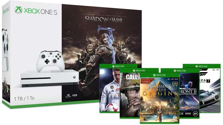 black-friday-2017-microsoft-xbox-one-s-shadow-of-war-2-game-bundle