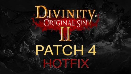 Divinity: Original Sin 2 Patch 4 Hotfix!