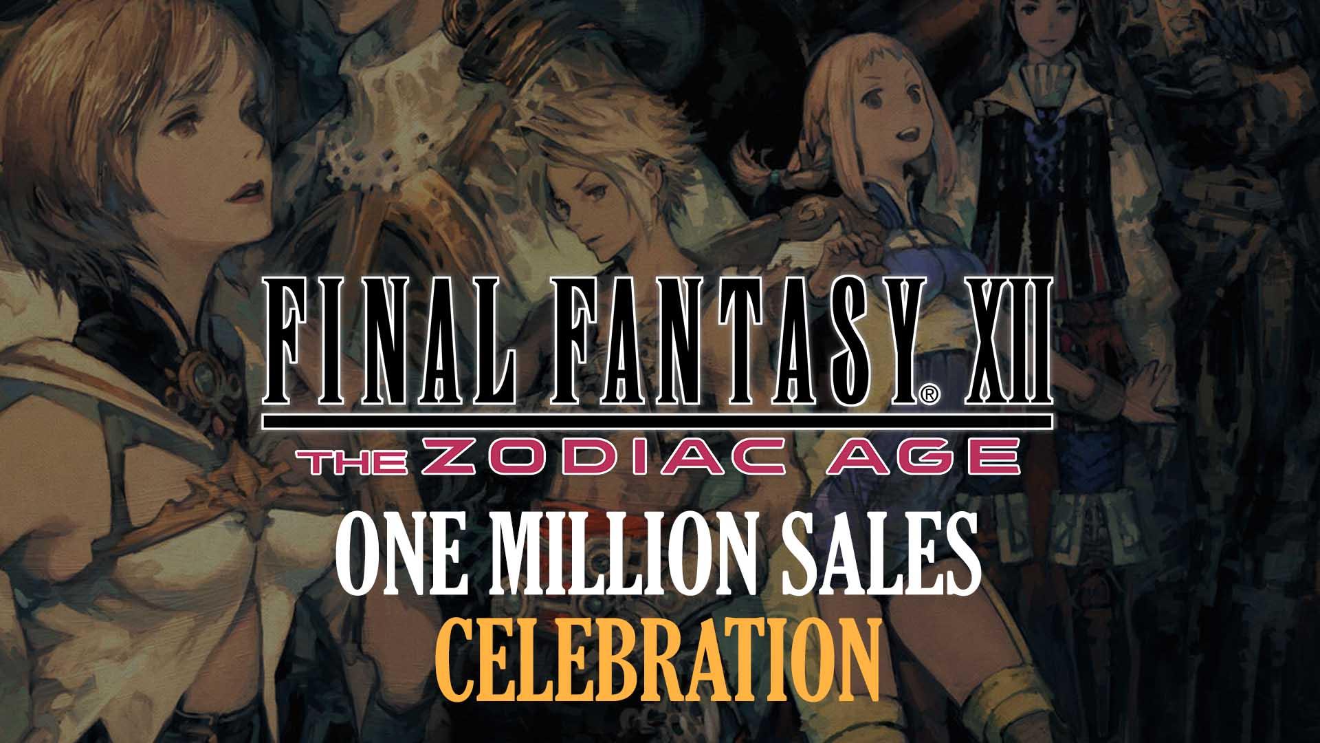 Final Fantasy Xii The Zodiac Age Celebrates 1 Million Sales With