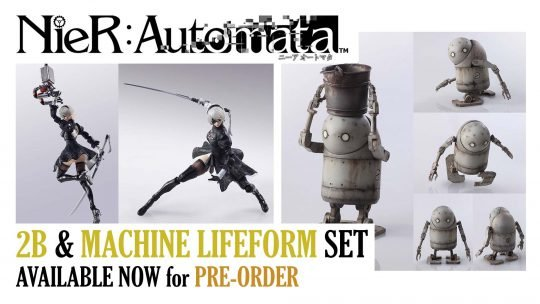 Nier: Automata 2B & Machine Lifeform Figure Set Open For Pre-Order!