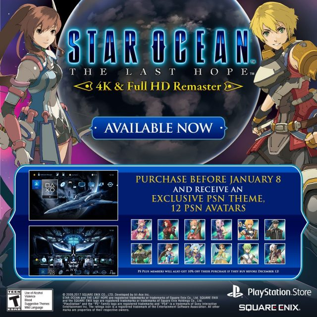 star-ocean-the-last-hope-square-enix-tri-ace-4k-full-hd-remaster-steam-playstation-plus-discount-ps4-psn-avatar-jrpg-action-rpg