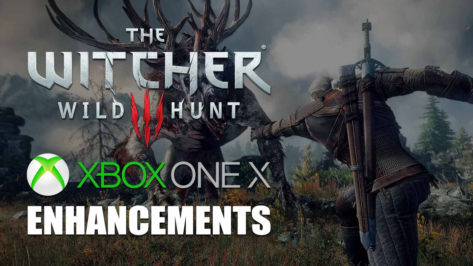 the witcher 3 wild hunt xbox one x version detailed. Black Bedroom Furniture Sets. Home Design Ideas