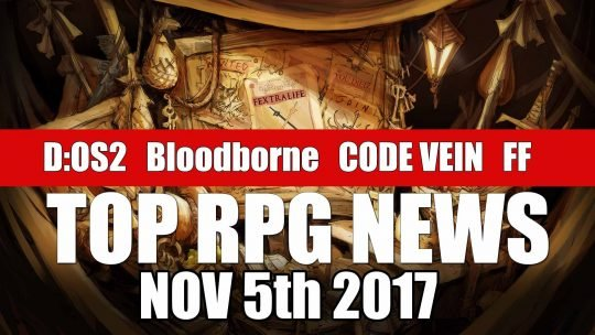 RPG News Weekly Round Up – November 5th, 2017