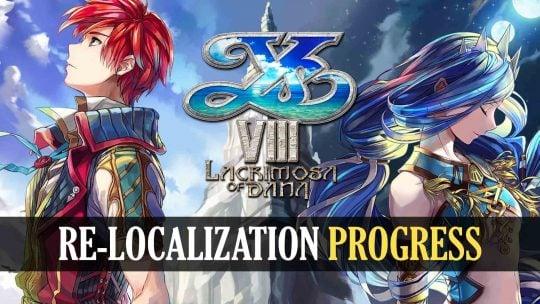 Ys VIII: Lacrimosa of Dana Localization Update!