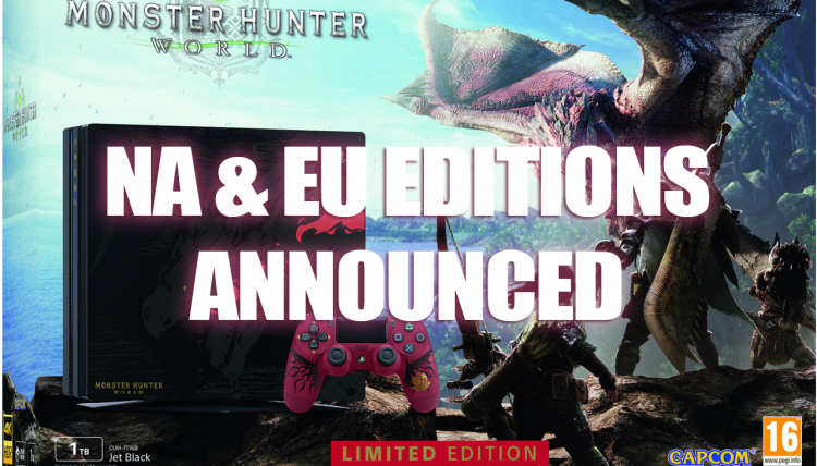 Monster Hunter World Edition PS4 Pro Coming to Europe and North America